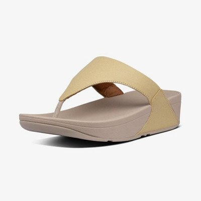 FitFlop FitFlop Lulu Shimmer Toe Post slippers goud