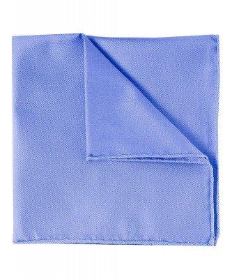 Profuomo Profuomo heren blauwe oxford zijden pochet