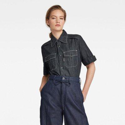 G-Star RAW Officer Shirt - Donkerblauw - Dames