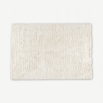 MADE.COM Erin hoogpolig vloerkleed 160 x 230cm, gebroken wit