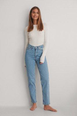 NA-KD NA-KD Rechte Jeans - Blue