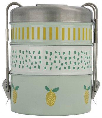 HEMA HEMA Lunchbox Tiffin 3-delig Rvs