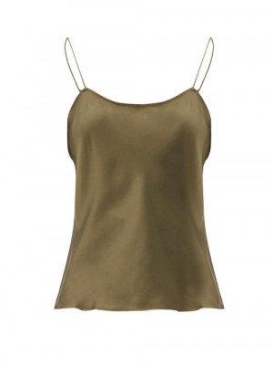 Frame - Silk Cami Top - Womens - Khaki