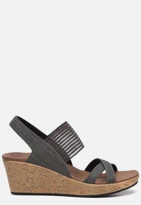 Skechers Skechers Beverlee High Tea sandalen met sleehak grijs