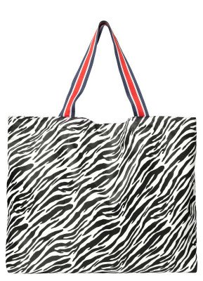 Becksondergaard Becksondergaard Zebra Foldable Bag Zwart/Wit Tas
