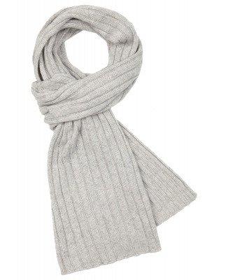 Profuomo Profuomo heren licht grijze wol-kasjmier sjaal