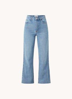 EDITED EDITED Esra high waist straight leg jeans met gerafelde zoom