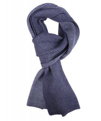 Profuomo Profuomo heren denim knitted sjaal