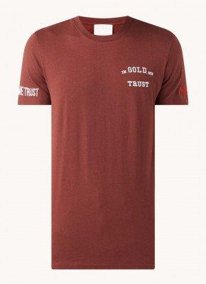 In Gold We Trust T-shirt van biologisch katoen met logoprint