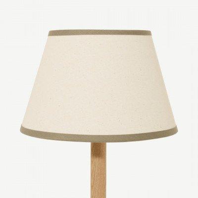 MADE.COM Larue tapstoelopende lampenkap, 25 cm, roomwit en groen