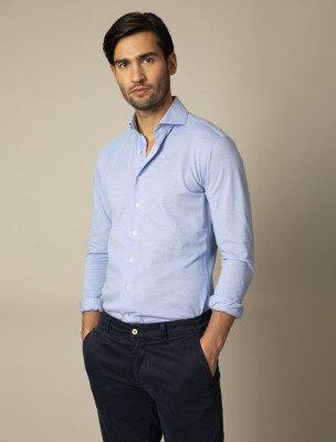 Cavallaro Napoli Cavallaro Napoli Heren Overhemd - Franti Overhemd - Blauw