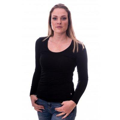 Claesens Claesens Women T-shirt o-neck longsleeve Black( 8016)