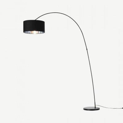 MADE.COM Sweep staande lamp, zwart en chroom