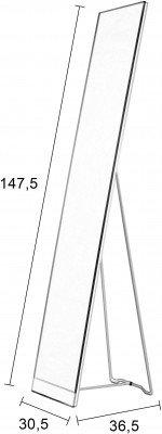 ZILT ZILT Staande Spiegel 'Xander' 147.5 x 30.5cm, kleur Wit