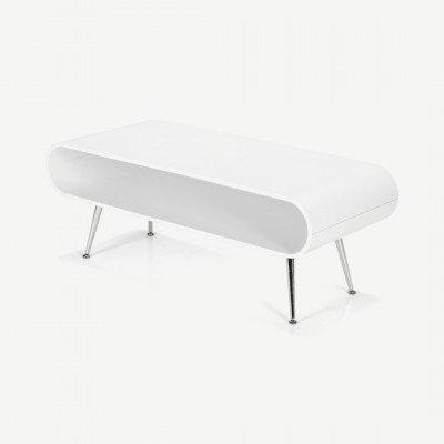 MADE.COM Hooper salontafel met opbergruimte, wit