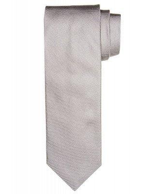 Profuomo Profuomo heren grijs oxford zijden stropdas