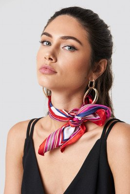 Trendyol Trendyol Multi Printed Shiny Scarf - Red