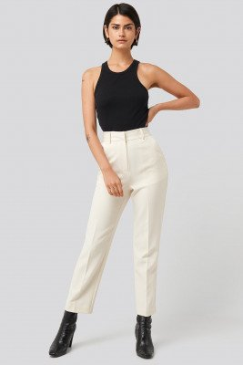 NA-KD Classic NA-KD Classic Tailored Cropped Suit Pants - White