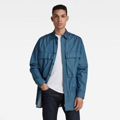 G-Star RAW GSRR Regular Long Shirt - Donkerblauw - Heren
