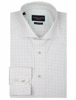 Cavallaro Napoli Cavallaro Napoli Heren Overhemd - Gabriele Overhemd - Wit