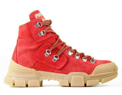 Forty5 Forty5 Cortina Rood Dames Veterboots