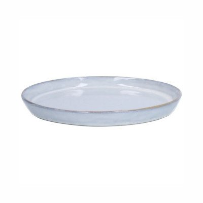 DilleenKamille Bord reactieve glazuur, steengoed, grijs,Ø 20,5 cm