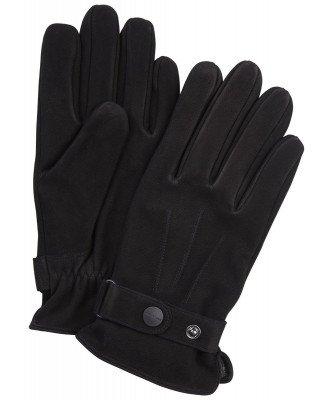 Profuomo Profuomo heren zwarte nubuck handschoenen