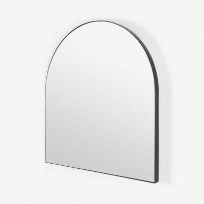 MADE.COM Arles wandspiegel, 80 x 85 cm, matzwart