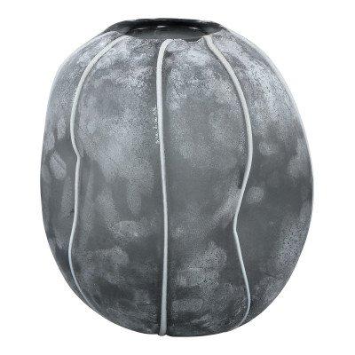 Firawonen.nl Lindy grey glass vase round small border l
