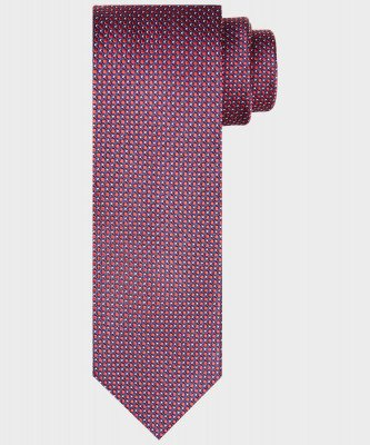 Michaelis Michaelis heren zijden stropdas rood
