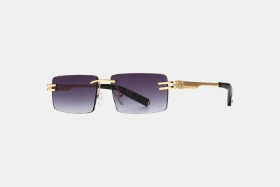 Blank-Sunglasses NL LA. - Gold with smokeyblack