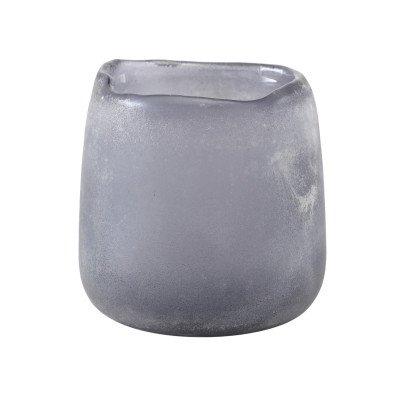 Firawonen.nl Raze grey frosted glass pot round s