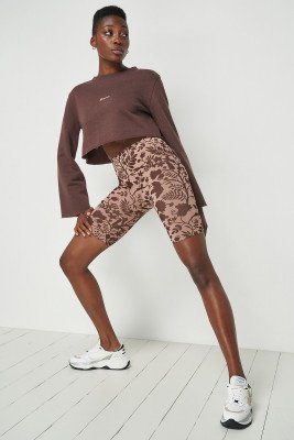 Toni Dreher for nu-in High Waist Cycling Shorts Pink/Brown / L