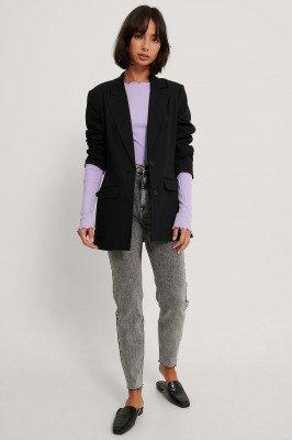 NA-KD Reborn NA-KD Reborn Organisch Steengewassen Slim-jeans Met Hoge Taille - Grey