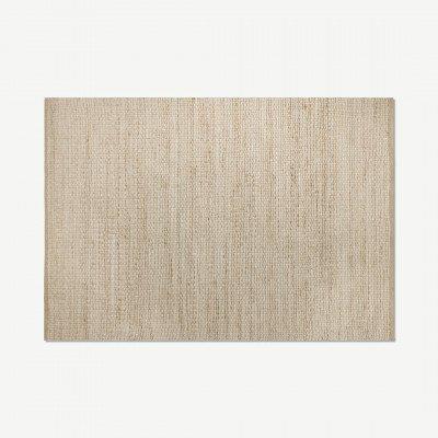 MADE.COM Enas vloerkleed van jute, groot, 160 x 230 cm, wit