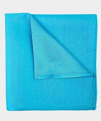Michaelis Michaelis heren zijden pochet turquoise