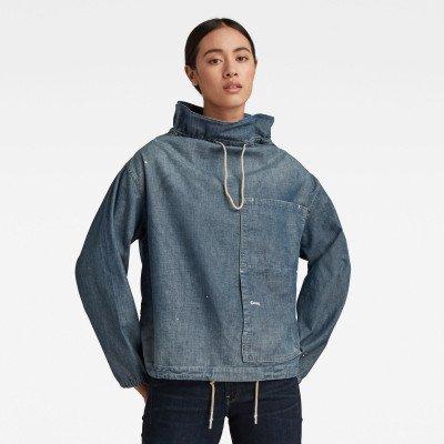 G-Star RAW Long Sleeve Mock Neck Shirt - Midden blauw - Dames