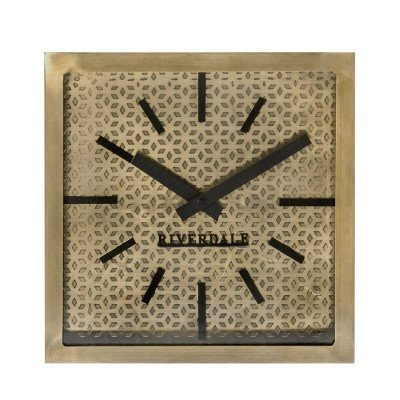 Riverdale NL Tafelklok Levy goud 20cm