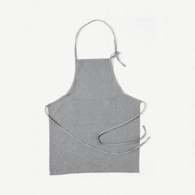MADE.COM Original Home keukenschort van 100% gerecycled katoen, grijs