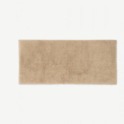 MADE.COM Aire badmat, 100% katoen, extra lang, 50 x 110 cm, lichtbeige
