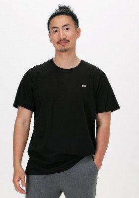Tommy Jeans Zwarte Tommy Jeans T-shirt Tjm Classic Jersey C Neck