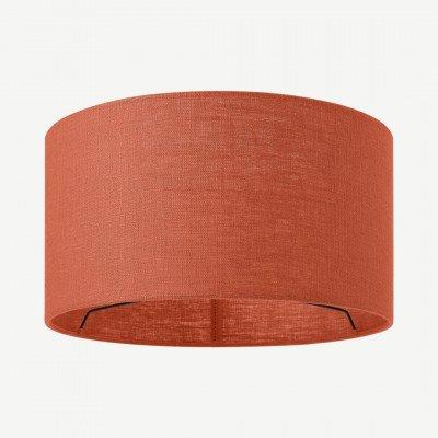MADE.COM Porto lampenkap van linnen, 30 x 16cm, gebrand oranje