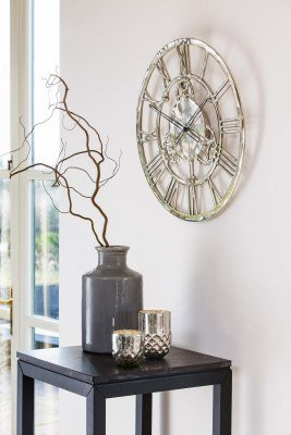 Light & Living Light & Living Klok 'Sign' 60cm, kleur nikkel