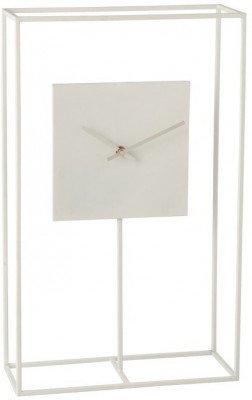 J-Line J-Line Klok 'Modeste' in frame, kleur Wit