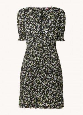 Tommy Hilfiger Tommy Hilfiger Mini jurk met bloemenprint en smockwerk