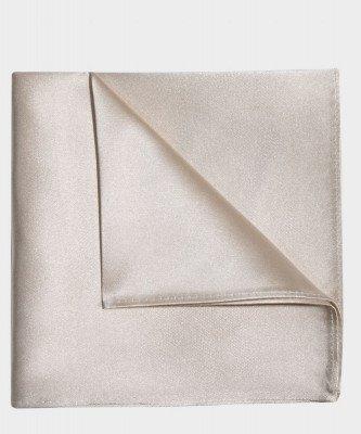 Michaelis Michaelis heren zijden pochet gebroken wit