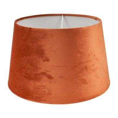 Xenos Lampenkap velvet - cognac - ø33 cm