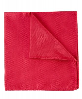 Profuomo Profuomo heren rode oxford zijden pochet