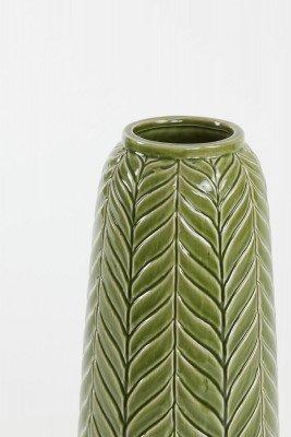 Light en Living Light & Living Vaas 'Lilo' 40cm, kleur Groen