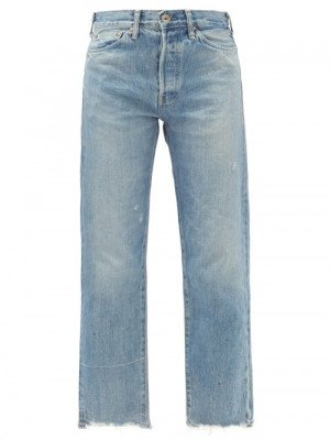 Matchesfashion Chimala - Cropped Selvedge-denim Straight-leg Jeans - Womens - Denim